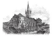 Koenigsberg Cathedral vintage engraving — Stock Vector