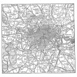 London and its environs vintage engraving — Stock Vector