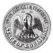 Great Seal of the State of Louisiana USA vintage engraving — Stock Vector