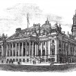 Royal Exchange in Manchester England vintage engraving - Stock vektor
