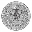 Great Seal of the Commonwealth of Massachusetts or the Seal of t — Stock Vector