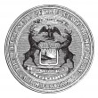 Seal of state of Michigan, vintage engraving — Stock Vector #6752916