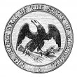 Seal of the State of Mississippi, vintage engraving. — Векторная иллюстрация