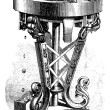 Royalty-Free Stock Obraz wektorowy: Machine reel, vintage engraving.