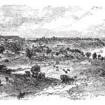Natchez in Mississippi, USA, vintage engraved illustration — Stock Vector #6754981