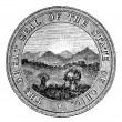 Seal of the State of Ohio. vintage engraving — Stock Vector #6755470
