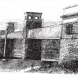 Puente Britannia, en anglesey, Gales, Reino Unido, en vintage — Vector de stock