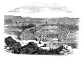 Medina, saudi-arabië, vintage gravure — Stockvector