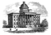 Alabama State Capitol Building, United States, vintage engraving — Stock Vector