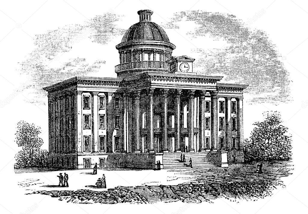 Alabama State Capitol Building United States Vintage