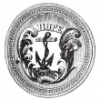 Seal of the State of Rhode Island USA vintage engraving — Stock Vector