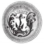 sceau de la gravure de vintage usa État du rhode island — Vecteur