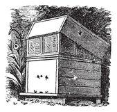 Beehive or Beehives vintage engraving — Stock Vector