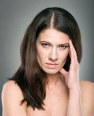 Güzel bir kadın modeli ile stres portresi — Stok fotoğraf