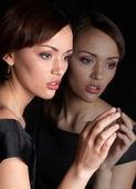 Portrait of a beautiful female model — Stock Photo