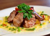 Grilled pork chop — Stock Photo