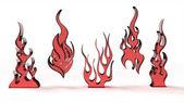 стилизованные пламя — Стоковое фото