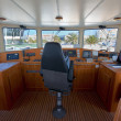 Boat cockpit — Stock Photo