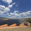 Photovoltaic power plant — Stock Photo