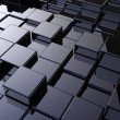 Array of shinny cubes — Stock Photo