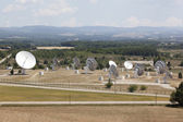 Radio antenna dishes in southern France — Stock Photo