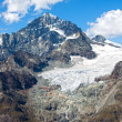 Stock Photo: Alpine glacier melting in the Swiss Alps