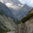 Curvy road in the Swiss Alps — Stock Photo