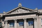 St-Hyacinthe Seminary, Classical architecture in colonial style, fides et s — Stock Photo