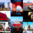 Stock Photo: Shipbuilding background