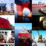 Shipbuilding background — Stock Photo