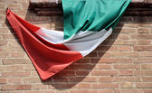 Italian flag — Stock Photo