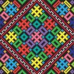 Ukrainian ethnic seamless ornament, #38, vector — Stock Vector