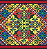 Ukrainian ethnic seamless ornament, #43, vector — 图库矢量图片