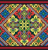 Ukrainian ethnic seamless ornament, #43, vector — Vector de stock