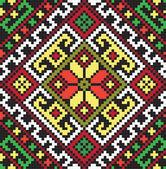 Ukrainian ethnic seamless ornament, #45, vector — ストックベクタ
