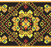 Ukrainian ethnic seamless ornament, #44, vector — ストックベクタ