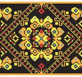 Ukrainian ethnic seamless ornament, #44, vector — Vector de stock