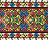 Ukrainian ethnic seamless ornament, #42, vector — ストックベクタ