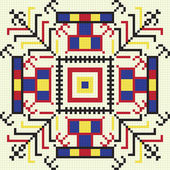 Ukrainian ethnic seamless ornament, #61, vector — Stok Vektör