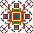 Vector de stock : Ukrainiethnic seamless ornament, #64, vector
