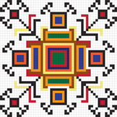 Ukrainian ethnic seamless ornament, #64, vector — Stok Vektör