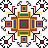 Ukrainian ethnic seamless ornament, #64, vector — Vector de stock