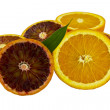 Royalty-Free Stock Photo: Traditional and Blood Orange Halves
