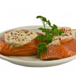 Stuff Salmon — Stock Photo