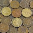 Stock Photo: Coins- IndiHead Pennies