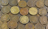 Coins- Indian Head Pennies — Stock Photo