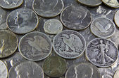 United States Silver Coins — Stock Photo