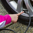 Tire Pressure- Gas Saver — Stock Photo