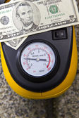 Tire Pressure- Gas Saver — Stock Photo