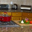Kitchen Stove Top - Stock Photo